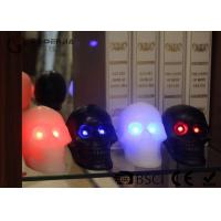 Quality Skull Shaped Safety Halloween Led Candles For Home Decoration 340g wholesale