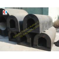 Boat D Type Loading Dock Rubber Bumpers Semi-circular ISO90001