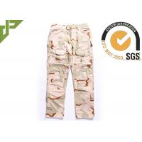 Quality Desert Military Tactical Pants Built In Knee Pads For Security Guard / Police Outdoor Sport wholesale