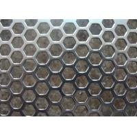 Quality Galvanized Perforated Metal Mesh Hexagonal / Round Hole 3mm - 200mm Aperture wholesale