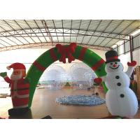 China Holiday Blow Up Christmas Decorations , Inflatable Christmas Arch Ornaments 4.6 X 3.6m on sale