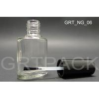 Quality Spraypainting Glass Oval Shape Nail Polish Bottles Empty with Black Single Layer Cap wholesale