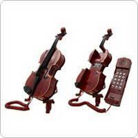 China Cute Violin-shaped Telephone with Novelty Design on sale