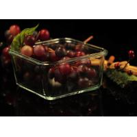 Quality Recyclable Borosilicate Airtight Microwave Safe Glass Bowl Heat Resisting wholesale