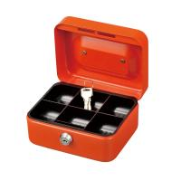 China Chrome Plated Lightweight Metal Cash Box With Lock Coin Storage Safes on sale