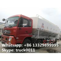 China cheaper dongfeng tianjin 6*2 15tons electronic system discharging feed delivery truck for sale, hot sale 30tons anim on sale
