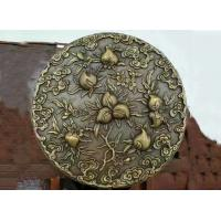 Quality Casting Bronze Relief Sculpture Classic Style 1.8m Diameter Decorative Peaches wholesale