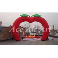 Cheap custom giant apple shape inflatable arch with free air blower for event party for sale
