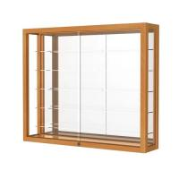 China Simple Retail Wall Display Shelves Solid Wooden Wall Display Cases Heirloom Series on sale