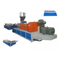 Quality Conical Twin Screw / SJZS80/156 Plastic Sheet Extruder For PVC Roofing Sheet  Forming Machine wholesale