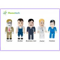 China Portable Character USB Drives Doctor With Durable Solid State Storage , Doctor / Nurse Model on sale