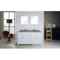 Quality CUPC Narrow Depth Bathroom Vanity , Mahogany Flush Antique Bathroom Sink Cabinets wholesale