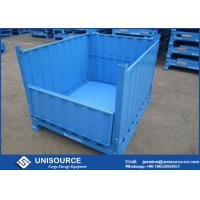 Buy cheap Durable Steel Pallet Box Foldable / Reusable Metal Mesh Box For Transportation from wholesalers
