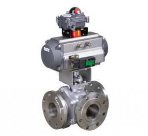 Pneumatic 3-way ball valve