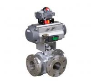China Pneumatic 3-way ball valve on sale