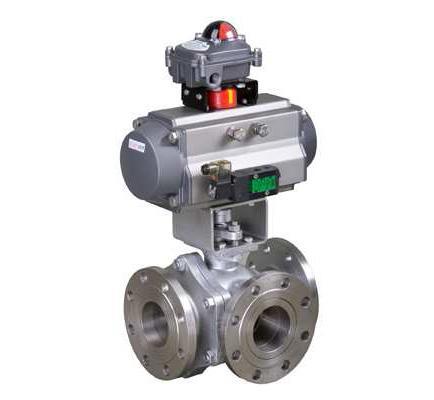 Cheap Pneumatic 3-way ball valve for sale