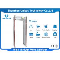 Quality 33 Zones Walk Through Safety Gate Or Airport / Metal Bomb Detector Gate wholesale