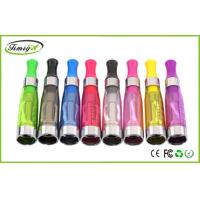 China 1.6ml 750puffs Dual Coil Ce4 Clearomizer Tank clear black For Ego Thread Batteries on sale