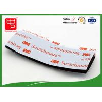 Quality Strong Adhesive Hook and Loop Tape / Magic Custom Hook And Loop Patches With 3m Glue wholesale