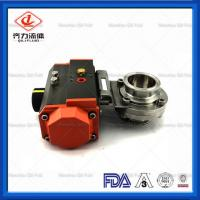 China Light Weight  Sanitary Butterfly Valve With Aluminum Pneumatic Actuator on sale