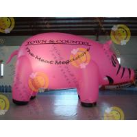 Quality 6m Cute Custom Shaped Balloons , 0.18mm Pink PVC Inflatable HeliumBalloon wholesale