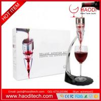 China Adjustable Wine Aerator Set Gift Boxed with 0-6 Speed Decanter Stand Tower With Gift Box on sale