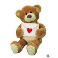 Quality Stuffed Custom Plush Toy Animals Bears Greeting with a Love Letter for Gifts wholesale