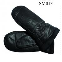 Quality Men sheep leather mittens high quality at cheap price SM013 men leather mitten wholesale