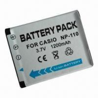 Quality Digital Camera Battery for Casio with 3.7V Voltage, 1,180mAh Capacity and Li-ion Type wholesale