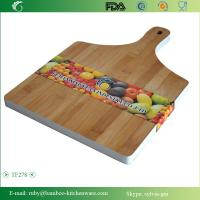 Quality TF278/Color Side Bamboo Cutting Chopping Block Board with Short Handle wholesale