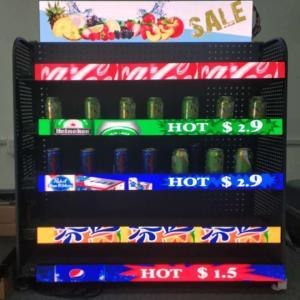China Supermarket Indoor Led Liquor Bottle Display Shelf Easy Contrl  Vivid Color LED Shelftaker on sale