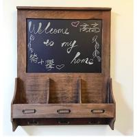 Quality Kitchen Decorative Message Boards / Message Board With Key Hooks Wooden Frame wholesale