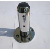 Quality 316 Mirror Finish Stainless Pool Fencing Spigots , Glass Wall Fittings wholesale