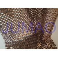 China Brown Hollow 4 Mm Metal Sequin Fabric Cloth For Interior Or Exterior Drape on sale