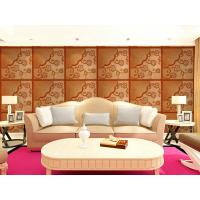 Cheap Real Leather 3D Living Room Wallpaper Royal Luxurious Wall Decal PU leather Panels for sale