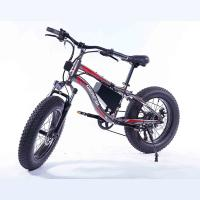 Quality 7 Speed Fat Wheel Electric Bike Mountain Beach Use Snow Resistance 26 Inch wholesale