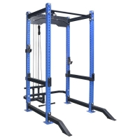 Quality 600kg Full Gym Equipment Multifunctional Power Squat Rack With Pulley wholesale