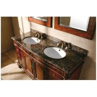 Ogee Edge Granite Bathroom Countertops , Baltic Brown Granite Countertops