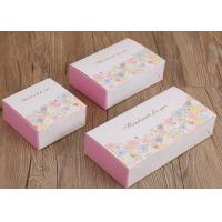 Cheap Three Size Custom Recycled Paper Cake Boxes ,  Flower Patterns Mooncake Paper Box for sale