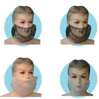 Quality Recyclable Disposable Beard Net Nonwoven Waterproofing For Beauty Hospital wholesale