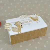 Cheap Logo Printed Popcorn Chicken Box , Disposable Paper Box For Fast Food for sale