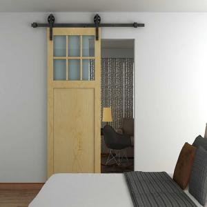 China Doors other exterior accessories wooden door hardware carbon steel black sliding roller furniture hardware on sale