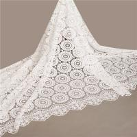 China White color factory wholesale price african cord swiss lace fabric for party dresses on sale