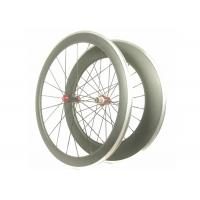 Quality Front 50MM Lightweight Alloy Road Bike Wheels V Shape With Toray 700 High Stiff wholesale