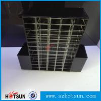 Cheap High clear customized acrylic spinning lipstick holder rotatable makeup for sale