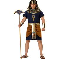 China Sexy Costumes Wholesale Spandex Soft Stretchy Dark Blue men Pharaoh Costume with S to XL on sale