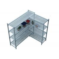 China Durable Heavy Duty Plastic Shelving Vented / Slotted Angle Shelving Rust - Proof on sale