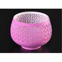 Quality pink hollow ceramic porcelain candle holders wholesale candlestick holders wholesale
