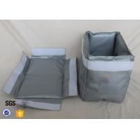 Cheap 300℃ Industrial Fiberglass Jacket Removable Thermal Insulation Cover Grey for sale