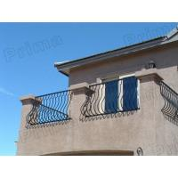 Quality outdoor glass stairs railings / outdoor wrought iron stairs railing wholesale